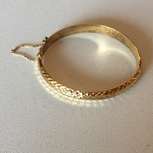 Jewelry - VTG CRAFTED GOLD OVER STERLING SILVER BRACELET